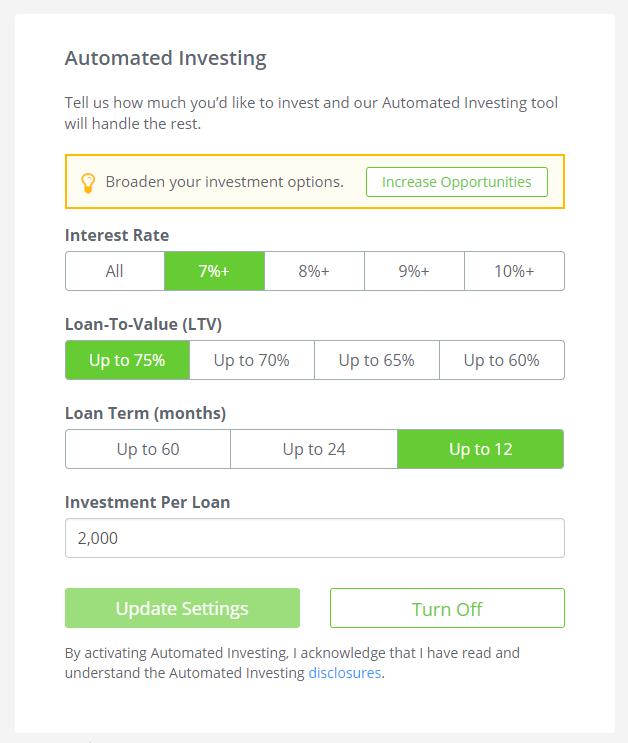 PeerStreet Automated Investing
